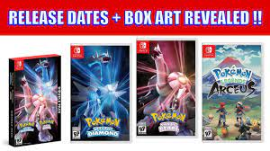 Nintendo Confirms Release Dates And Reveals Box Art For All Upcoming Pokemon  Games - YouTube