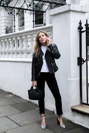 wondering how to style the black and white trend try this classic style which