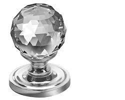 jedo collection swarovski crystal mortice door knobs 50mm polished chrome satin chrome