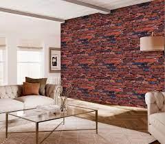 Red Brick Design Vinyl Wallpaper ...