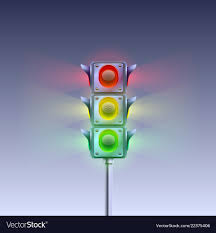 What Is Blue Light On Traffic Signal Traffic Signal On A White Background