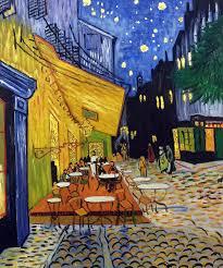 van gogh café terrace at night painting luxury line at art com