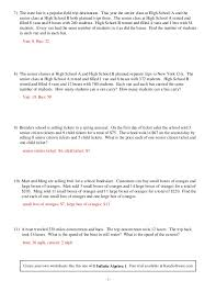 Word Problems Worksheets High School Worksheets for all | Download ...