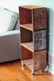 Wood Crate Stroage Bookcase Cheap Man Cave Ideas