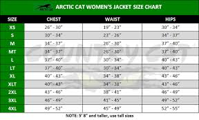 Gram Size Chart Black 5260 81_ Arctic Cat Womens Catgirl Glam Jacket 150