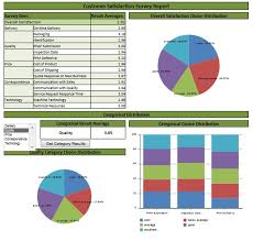 Satisfaction Survey Report Spreadsheetzone Free Excel Spread Sheets