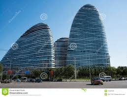 famous architecture in the world. In Asia, Beijing, China, Modern Architecture, Wangjing SOHO. Tourism, Office. Famous Architecture The World