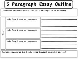 Outline For Five Paragraph Essay 5 Paragraph Essay Outline Graphic Organizer By Reading Opens Doors