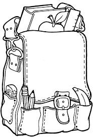 Small Picture Backpack Coloring Page theotixme