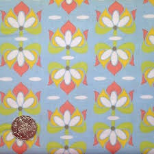 Priscilla, Riley Blake Designs, Floral on blue, Quilting cotton fabric, fat  1/4 | eBay