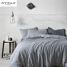 xyzls grey geometric bedding set 2 3pcs king queen twin size