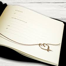Wedding Guest Book Personalised Wedding Guest Book And Pen