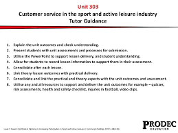 How Would You Describe Customer Service Unit 303 Customer Service In Sport And Active Leisure