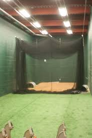 inside the indoor batting cages