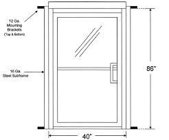 measuring glass entry doors