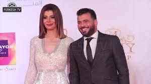 شاهد لحظة وصول عماد متعب وزوجته يارا نعوم حفل وشوشة - YouTube