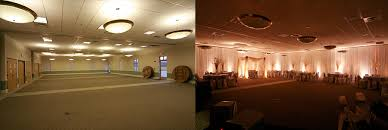 ceiling up lighting. A Childrens Church Completely Transformed Into Breathtaking Ballroom With Wall And Ceiling Drape Lighting Up