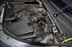 locating radiator fan relays high speed and low speed pt cruiser i would appreciate any tips or input and am willing to provide whatever info i need to thank you sincerely
