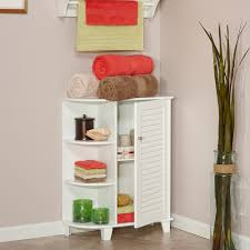 Bathroom Floor Cabinets Riverridge Ellsworth Floor Cabinet With Side Shelves White