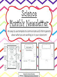 Monthly Newsletter Template For Teachers Free Cover Letter A Monthly Classroom Newsletter Template Templates