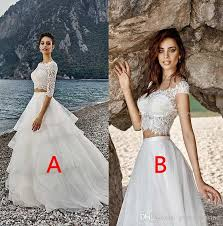 beach wedding dresses 2017 cheap lace top tulle skirt plus size