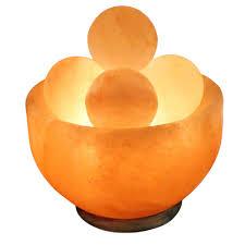 himalayan salt lamp 6 inch bowl with spheres