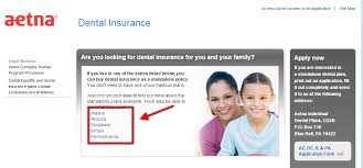 aetna dental insurance quote step 2