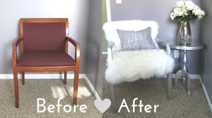 diy faux fur chair on a budget for under 50