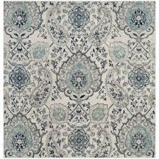 safavieh madison contemporary paisley cream light grey area rug 5 square ping