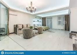 Flat Hall Design Minsk Belarus January 2019 Luxure Hall Interior Loft
