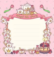 Party Menu Template Tea Party Menu Template Vector Images Over 1 300
