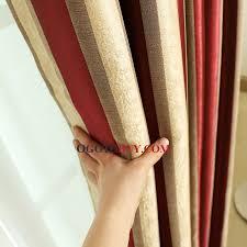 modern multi color poly cotton blend striped custom blackout window curtain