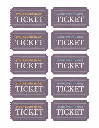 Avery Event Tickets Tickets 10 Per Page Works With Avery 5371