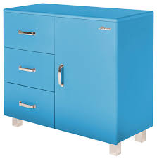 modern storage cabinets. miami, commode with 1 door and 3 drawers, blue car metallic lacquer modern- modern storage cabinets