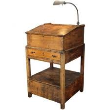 vintage wooden furniture. delighful wooden vintage industrial hostess stand wooden storage table standing  writing desk with gooseneck lamp intended furniture s
