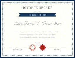 Prank Divorce Papers Impressive Fake Certificates Hloom