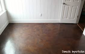 paper bag flooring after a year of use