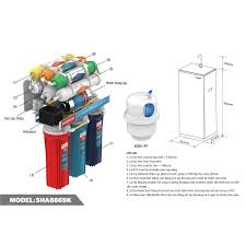 Máy lọc nước R.O 9 lõi SUNHOUSE SHA8869K - Bảo hành 24 tháng tại nhà - Máy  lọc nước