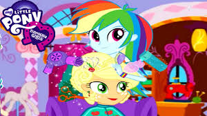 My Little Pony Rainbow Dash Gives Applejack New Hairstyle Game