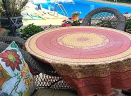 french provincial plastic coated round tablecloth
