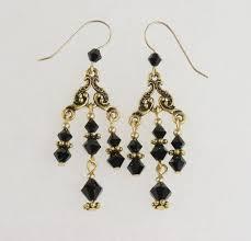 black swarovski crystal chandelier earrings