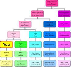 Cousin Relationship Chart Parking Level Four Relationship Names
