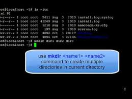 How To Create A Directory How To Create Directories In Unix Youtube