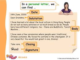 Text Type Personal Letters Ppt Download