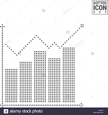 Growth Graph Or Chart Dot Pattern Icon Graph Dotted Icon