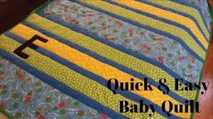 diy baby quilt super simple