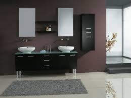 stunning kohler bathroom fixtures and twin mirror with grey rug