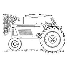 tractor color pages. Simple Tractor TheSideTractorcolor To Tractor Color Pages H