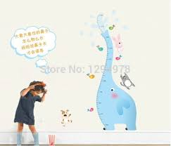 Us 6 29 6 Off Giraffe Pvc Wall Stickers Giraffe Growth Chart Height Measure For Kids Rooms Decoration Wall Home Decoration Ay9020 In Wall Stickers