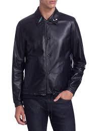 bally bally x swizz beatz reversible leather jacket black men apparel coats jackets shearling